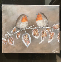 Load image into Gallery viewer, Robins on a Frosty Branch
