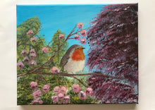 Load image into Gallery viewer, Robin with Blossoms