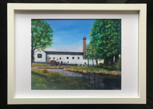 Kilbeggan Distillery in Sunshine Print of Original Painting