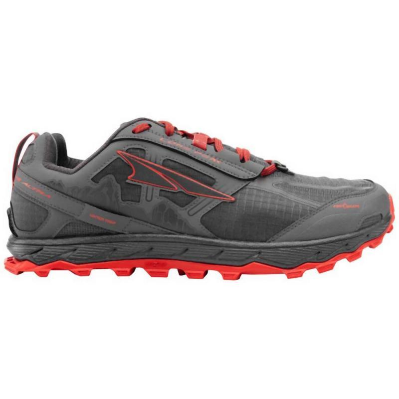 Altra Men's Lone Peak 4: Gray/Orange-Trail Running Shoes-Likeys