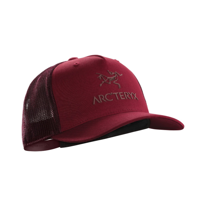 Arc'teryx Logo Trucker Cap: Red Beach