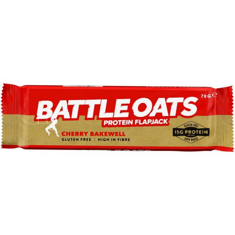 Battle Oats Protein Flapjack: Cherry Bakewell-Food & Nutrition-Single Serving-Likeys