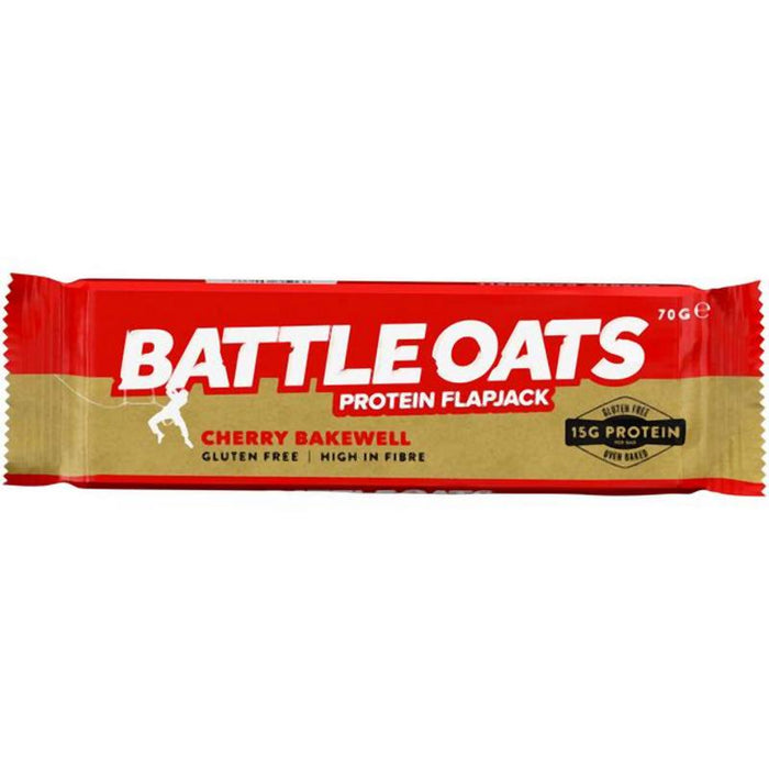 Battle Oats Protein Flapjack: Cherry Bakewell