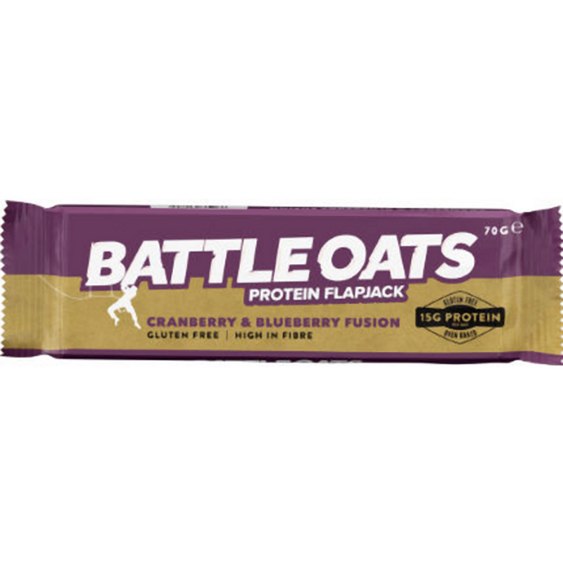 Battle Oats Protein Flapjack: Cranberry & Blueberry-Food & Nutrition-Single Serving-Likeys
