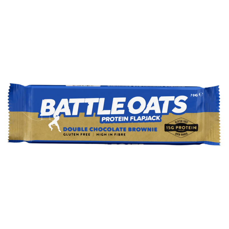 Battle Oats Protein Flapjack: Double Choc Brownie-Food & Nutrition-Single Serving-Likeys