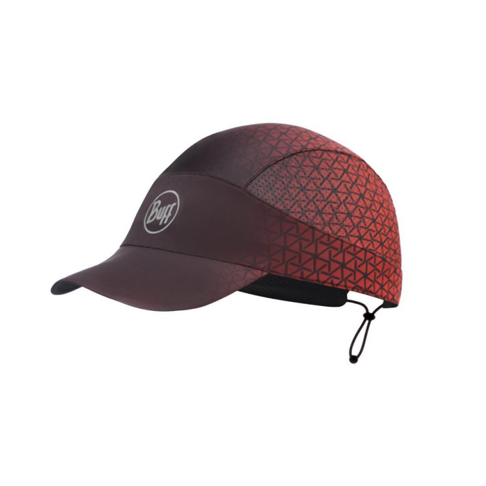 Buff Pack Run Cap: R-Equilateral Red