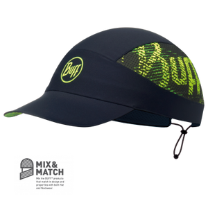 Buff Pack Run Cap: R- Flash Logo Black-Headwear-Likeys