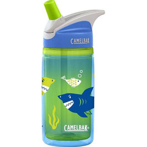 CamelBak Eddy Kids Insulated 0.4L Bottle: Blue Sharks-Hydration-One Size-Likeys