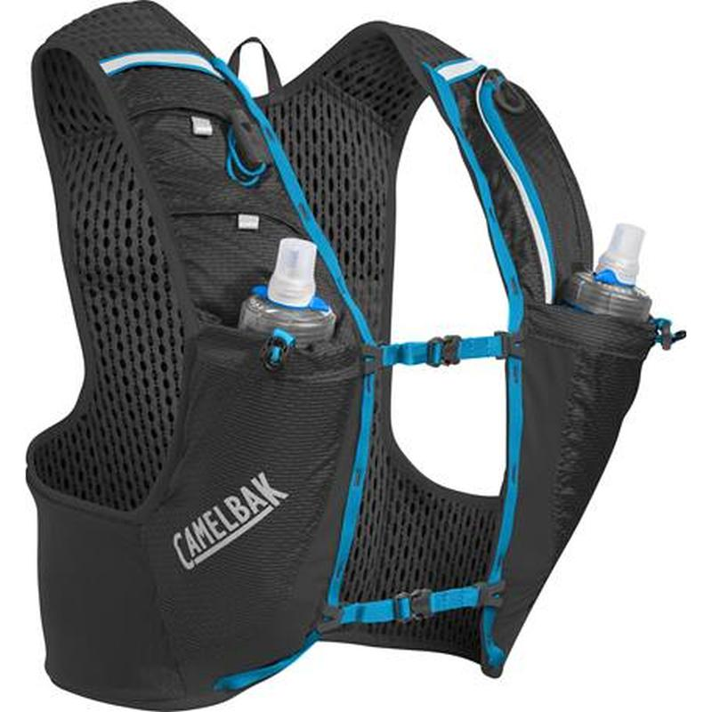 Camelbak Ultra Pro Vest: Black/Atomic Blue-Backpacks & Bags-Likeys