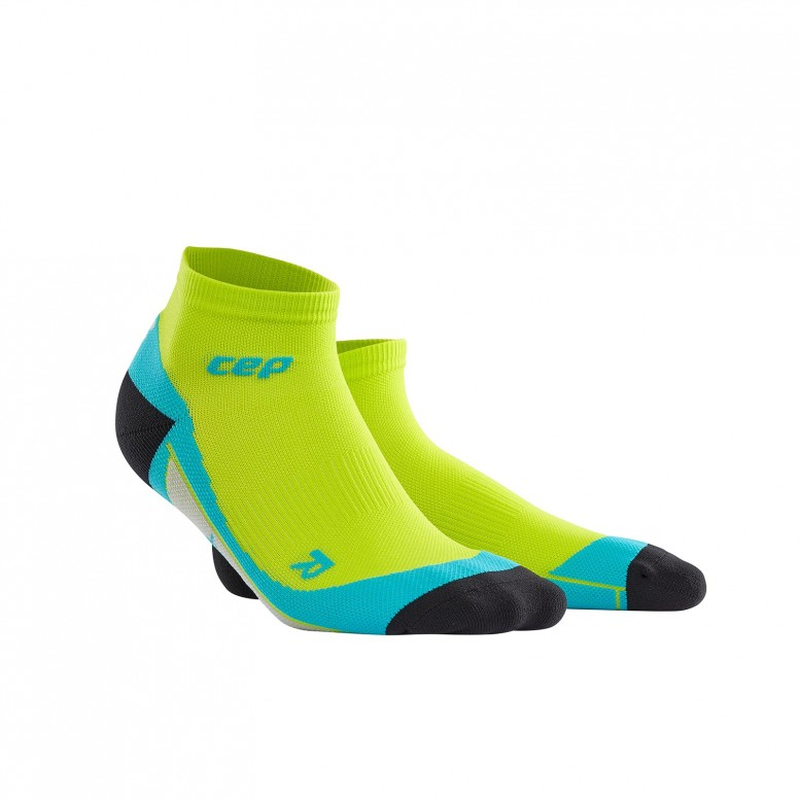 CEP Men Low Cut Socks: Lime/Hawaii Blue-Socks-Likeys