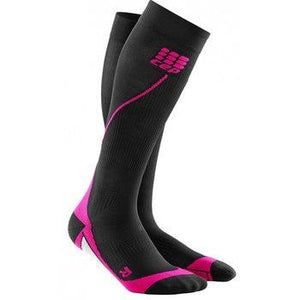 CEP Women's Run Sock 2.0: Black/Pink-Socks-2-Likeys