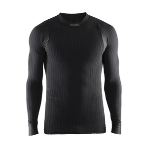 Craft Men's Active Extreme 2.0 CN LS Baselayer Top: Black-Baselayers-Likeys