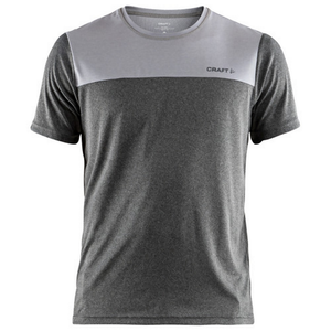 Craft Men's Eaze SS T-Shirt: Dark Grey/Melange-Tees-Likeys