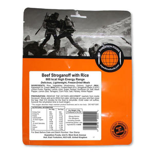 Expedition Foods Beef Stroganoff With Rice-Food & Nutrition-Single Serving-Likeys