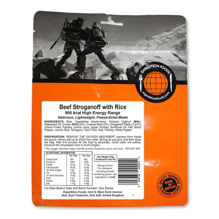 Expedition Foods Beef Stroganoff With Rice