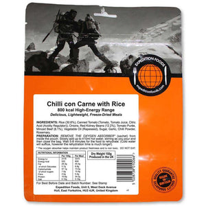 Expedition Foods Chilli Con Carne With Rice-Food & Nutrition-Single Serving-Likeys