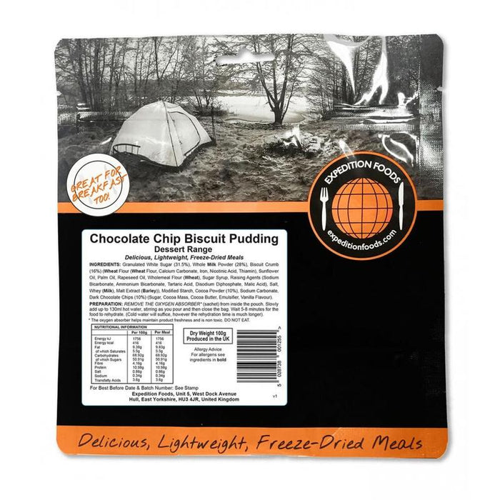 Expedition Foods Chocolate Chip Biscuit Pudding