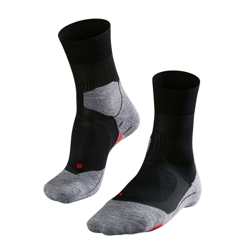 Falke Men's RU4 Cushion Running Sock: Black Mix-Socks-Likeys