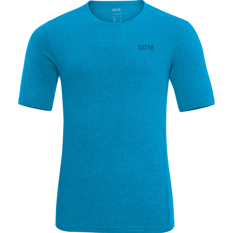 Gore Wear Men's R3 Melange Shirt: Dynamic Cyan-Tees-Likeys