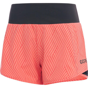 Gore Wear Women's R5 Light Shorts: Print Coral Glow-Shorts-Likeys