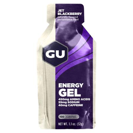 GU Energy Gel Jet Blackberry - with double caffeine