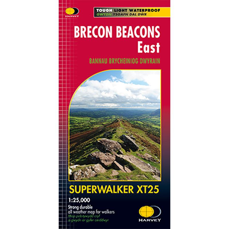 Harvey Maps Brecon Beacons East XT25 Superwalker-Maps & Books-One Size-Likeys
