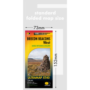 Harvey Maps Brecon Beacons West Ultramap-Maps & Books-One Size-Likeys