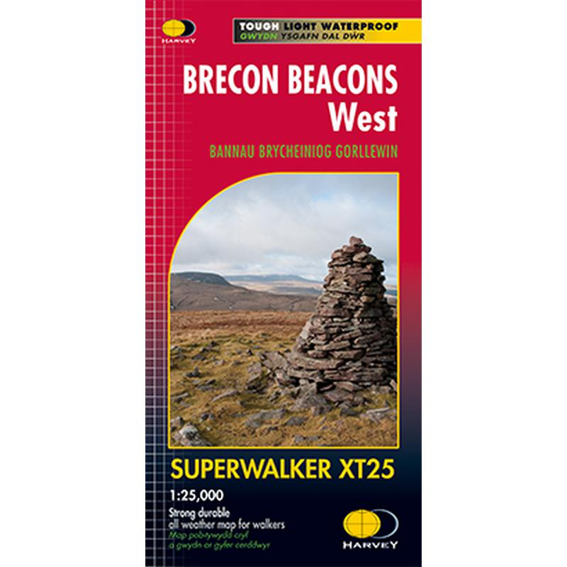 Harvey Maps Brecon Beacons West XT25 Superwalker-Maps & Books-One Size-Likeys
