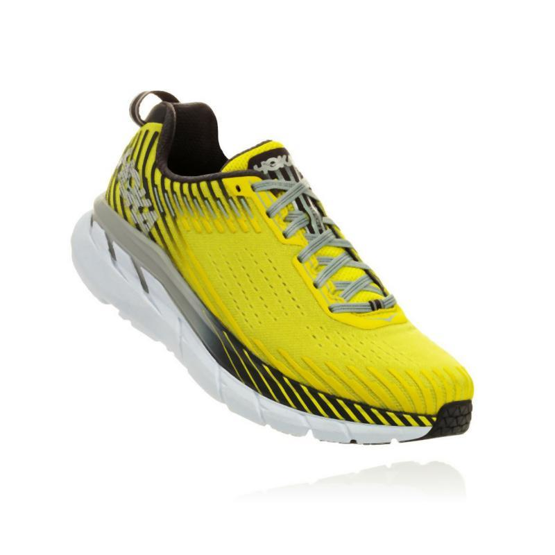 Hoka Men's Clifton 5 Running Shoe: Evening Primrose/Nine Iron-Road Running Shoes-Likeys