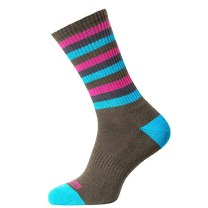 Horizon Men's Bamboo Lifestyle Socks-Socks-Olive - Turquoise-UK 8 - 12-Likeys