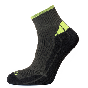 Horizon Men's Performance Coolmax Quarter Sock - Charcoal/Apple-Socks-Likeys
