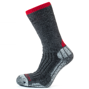 Horizon Men's Performance Merino Trekker Sock - Charcoal/Burgundy-Socks-Likeys