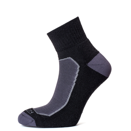 Horizon Men's Premium Quarter Sock - Black/Charcoal-Socks-Likeys