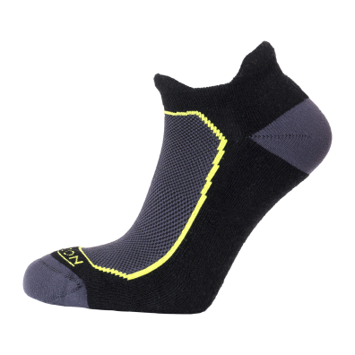 Horizon Men's Premium Tab Low cut Sock - Black/Lime-Socks-Likeys