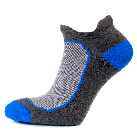 Horizon Men's Premium Tab Low Cut Sock - Graphite/Royal-Socks-Likeys
