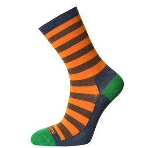 Horizon Women's Bamboo Lifestyle Socks-Socks-Orange - Green-UK 4 - 7-Likeys