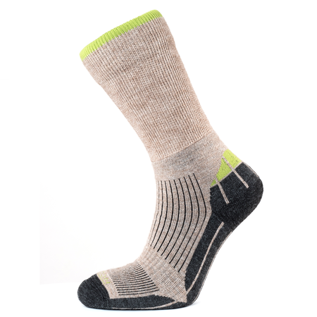 Horizon Women's Performance Merino Hiker Sock - Natural/Apple