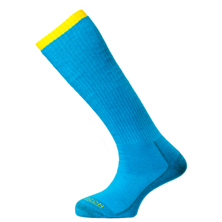 Horizon Women's Premium Mountaineer Sock - Turquoise/Yellow-Socks-Likeys