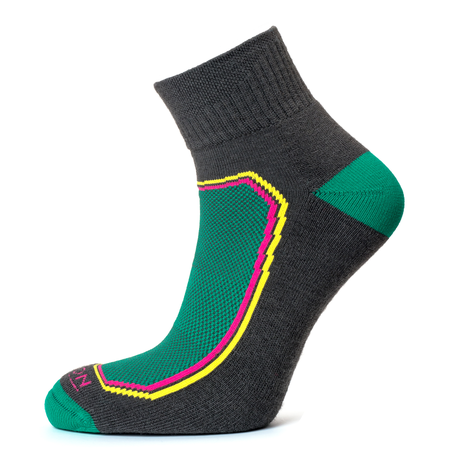 Horizon Women's Premium Quarter Sock - Anthracite/Lime-Socks-Likeys