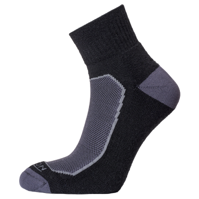 Horizon Women's Premium Quarter Sock - Black/Charcoal-Socks-UK 3-5.5-Likeys