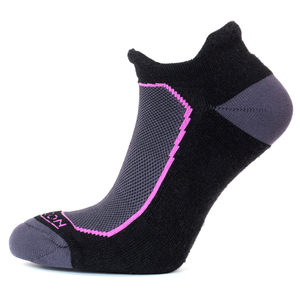 Horizon Women's Premium Tab Low Cut Sock - Black/Raspberry-Socks-Likeys