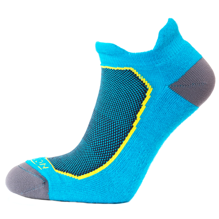 Horizon Women's Premium Tab Low Cut Sock - Turqoise/Yellow-Socks-Likeys