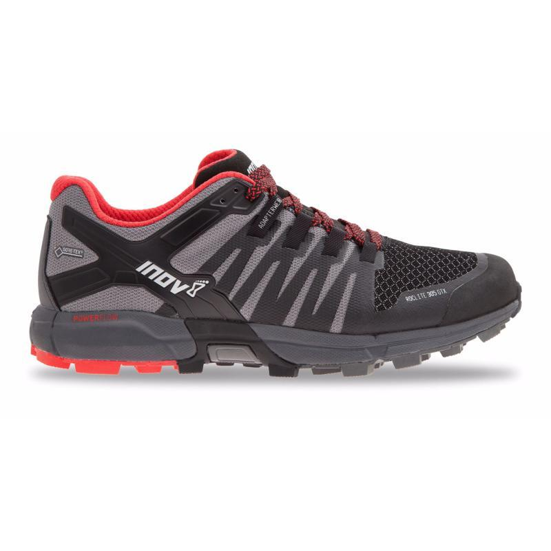 Inov-8 Men's Roclite 305 GTX: Black/Red-Trail Running Shoes-Likeys