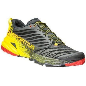La Sportiva Men's Akasha: Black/Yellow-Trail Running Shoes-Likeys