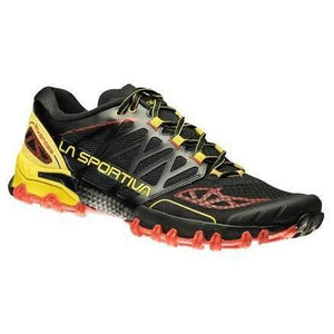 La Sportiva Men's Bushido: Black/Yellow-Trail Running Shoes-Likeys
