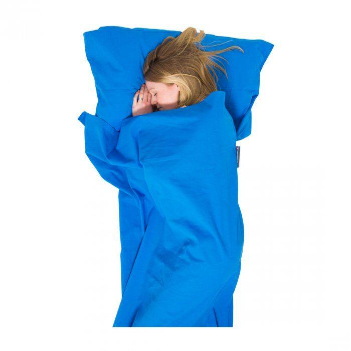 Lifeventure Cotton Mummy Sleeping Bag Liner-Sleeping-Blue-Likeys