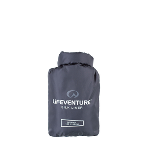 Lifeventure Silk Mummy Liner: Grey-Equipment-One Size-Likeys