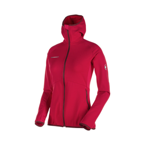 Mammut Women's Botnica Light ML Hooded Jacket: Magenta-Fleeces-Likeys