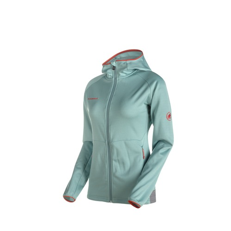 Mammut Women's Get Away ML Hooded Jacket: Air Melange-Fleeces-Likeys