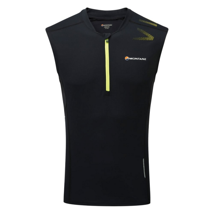 Montane Men's Fang Zip Tank: Black